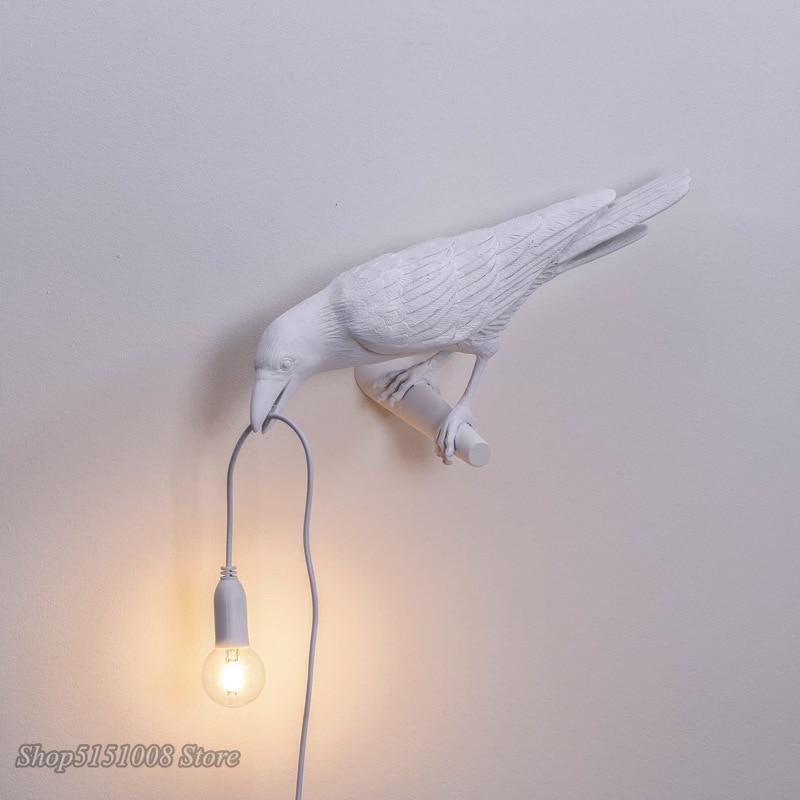 Italian Seletti Bird Led Wall Lamp Nordic Art Decor Home Bird Wall Scocnes Living Lamp Animal Furniture Lamp Bedrooom Luminaire