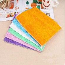 1pc pano de prato de fibra de bambu alta eficiente anti-graxa toalha de limpeza toalha de lavagem mágica limpeza de cozinha pano de limpeza pano