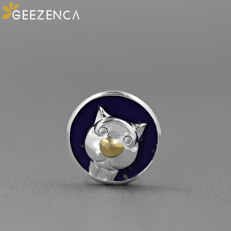Diseño Original 925, Plata de ley y lapislázuli, Gato lapislázuli, foto de Selfie, broche de joyería fina, broches románticos bonitos, regalo para chica