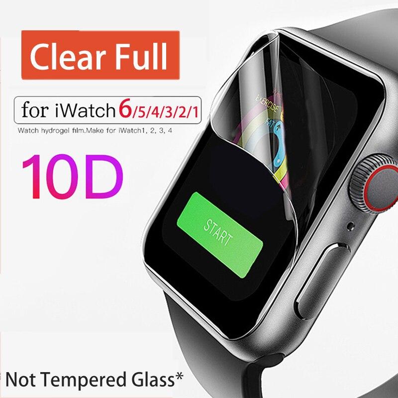 Чехол для часов Apple Watch 6 SE 5 4 3, прозрачная полноэкранная защита 42 мм 38 мм для iWatch 4 Series 6 5 1/2/3/4 40 мм 44 мм
