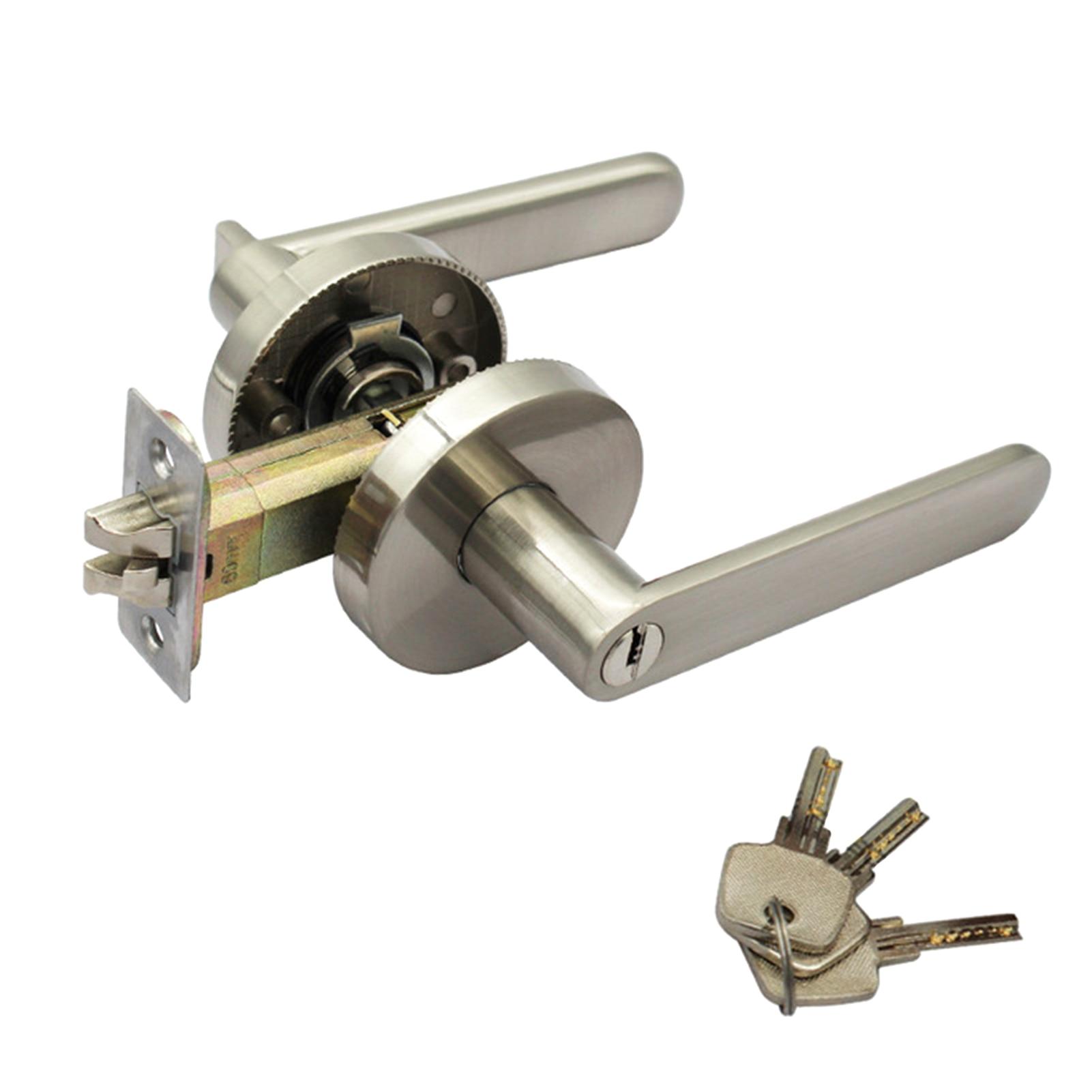 مكافحة سرقة سهلة التركيب الخصوصية ثلاثة بار سبائك الزنك غرفة نوم المنزل مكتب أبواب الحمامات مجموعة غلق صامت آمن دائم عدم الانزلاق