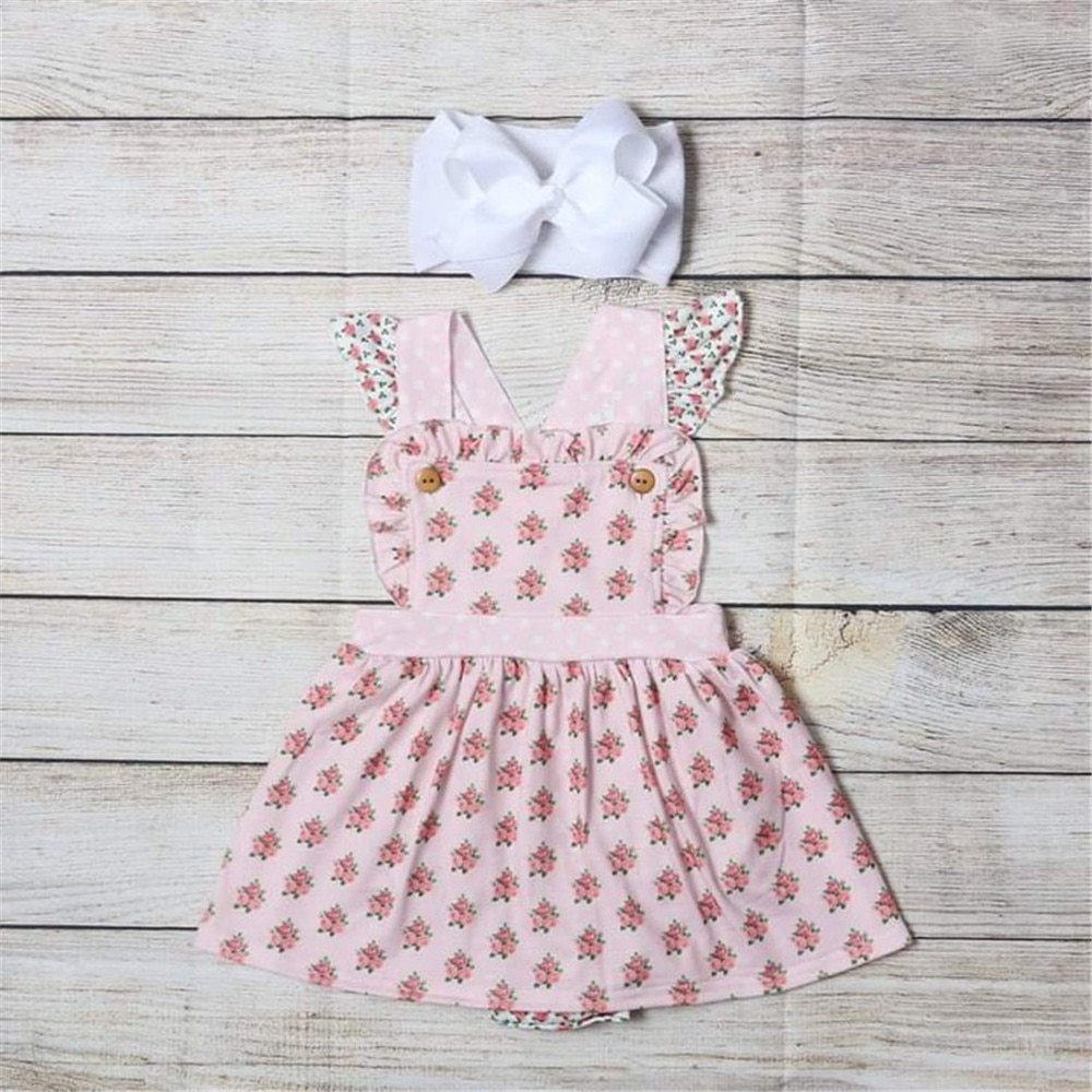 2020 new baby girls cotton romper sling robe and boys print jumpsuit for newborn children kids summer clothes New Baby Girls Romper Summer  Newborn Sleeveless Girls Print One-pieces Jumpsuit Baby Cotton Clothes Outfits