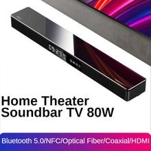 Саундбар для телевизора 80 Вт Система домашнего кинотеатра мощные беспроводные Bluetooth колонки 2,1 каналов сабвуфер Surround NFC Оптическое волокно