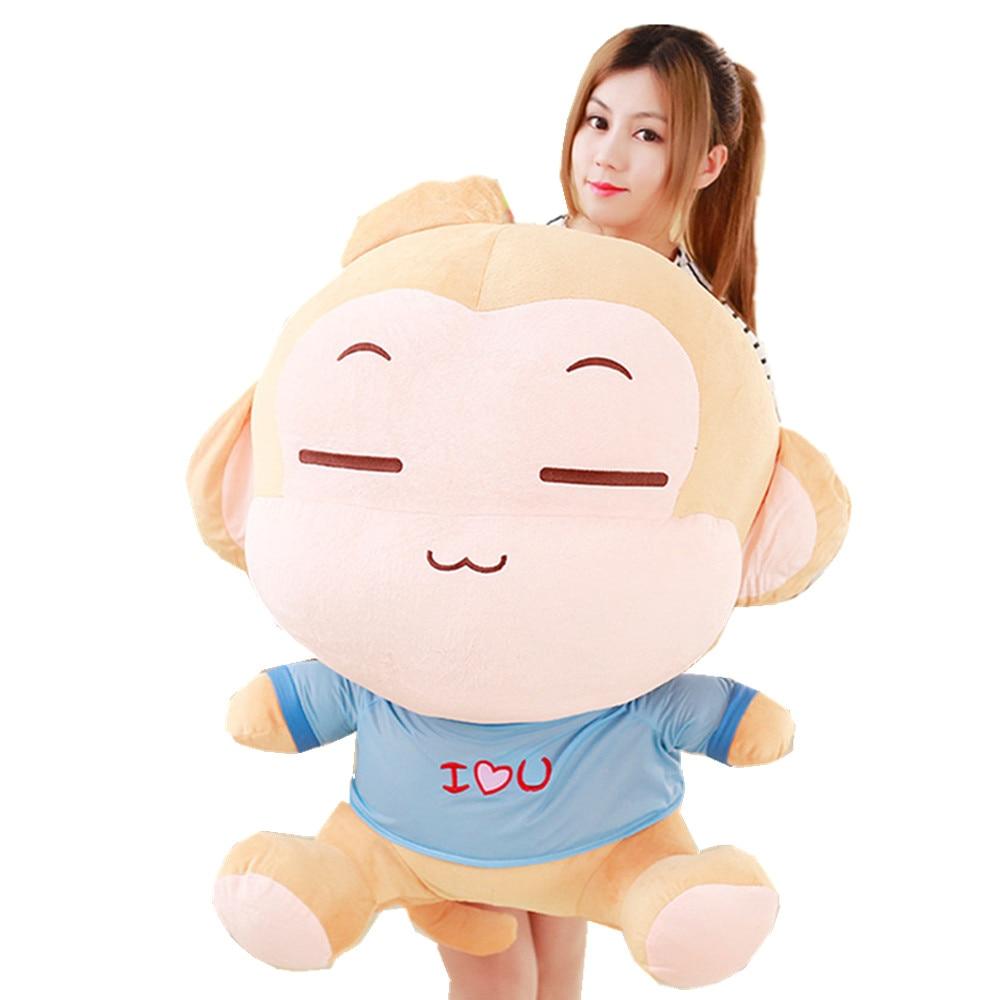 Fancytrader 39 peluche gigante suave encantador mono de peluche de juguete lindo Año nuevo regalo de cumpleaños casa Deco 2 colores 100cm 2 tamaños
