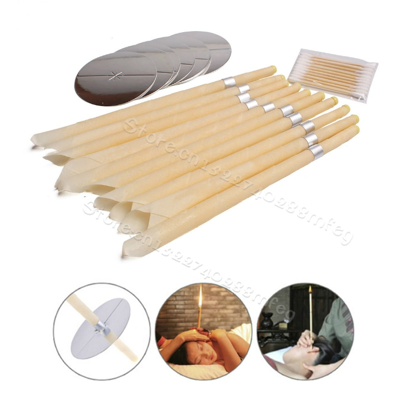 Ear Candles Ear Wax Clean Removal Natural Beeswax Propolis Indiana Therapy Fragrance Candling Cone Candle Relaxation Tools