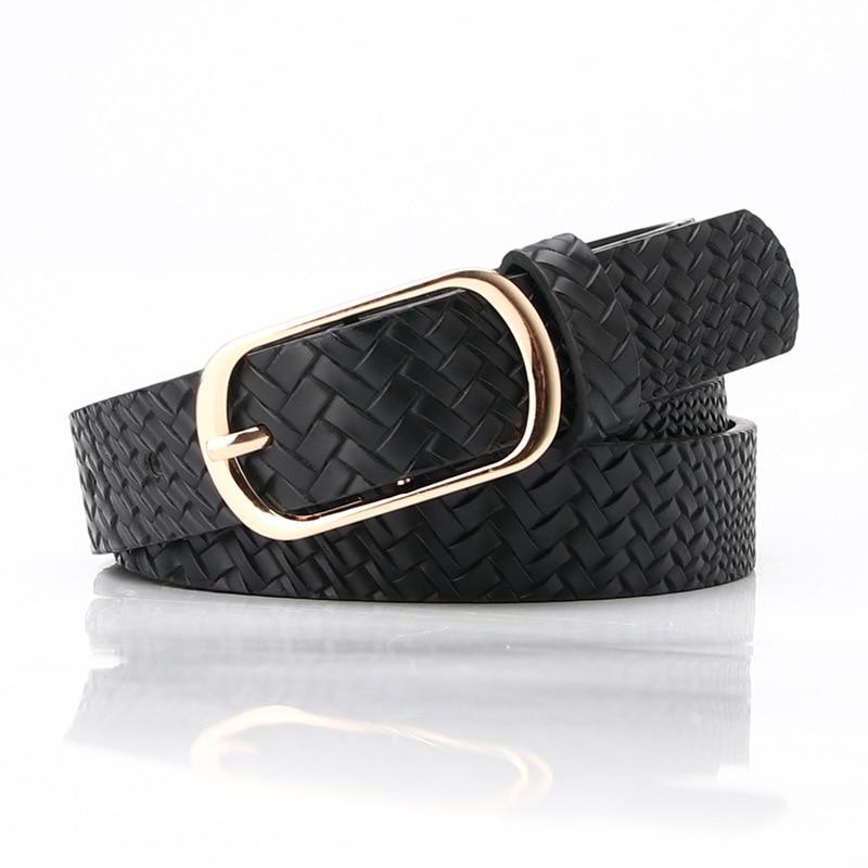Women Belt 2020 Snake Leopard Weave Belts for Black Fashion Waist Leather Lady Female Waistband Vintage