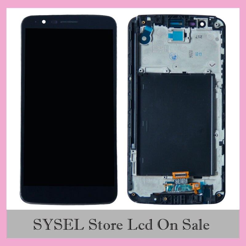 @ Para LG Stylus 3 LS777 M400 M400DF M400N M400F M400Y pantalla LCD MONTAJE DE digitalizador con pantalla táctil con marco biselado