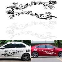 1 pair 180cm pvc car body sticker personality car racing waist line mudguard side body sticker 1pcs 50cm car hood stickers