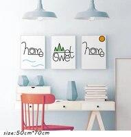 Affiche dart de montagne moderne  peinture sur toile nordique  lettres dart murales imprimees minimalistes pour decor de salon