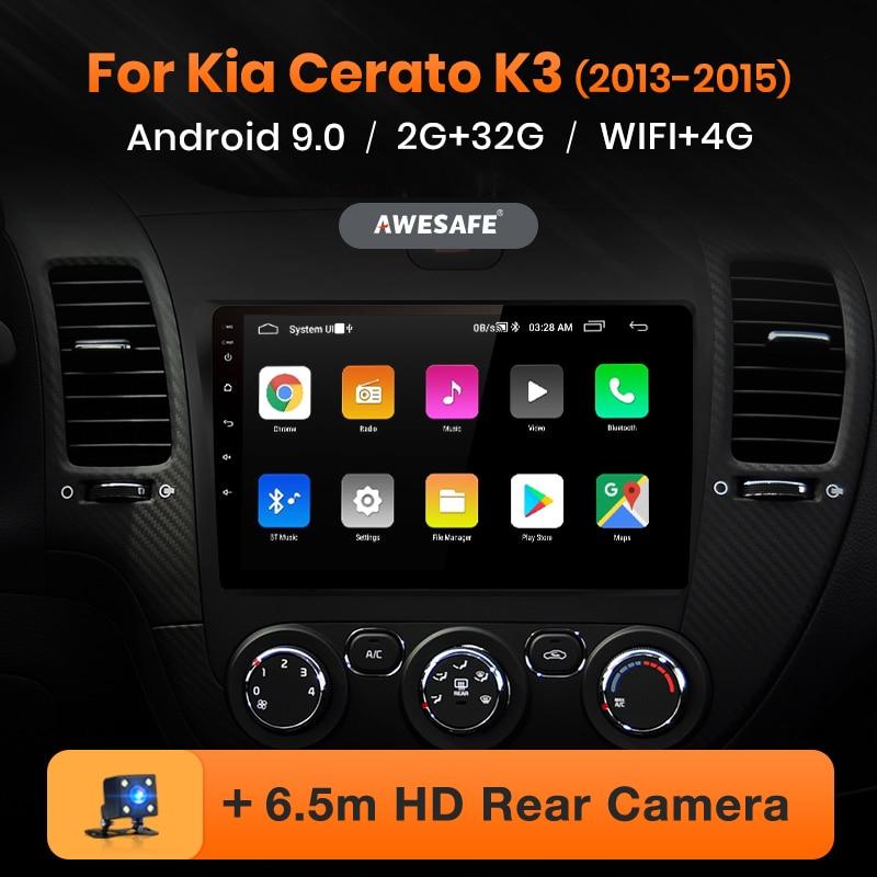 AWESAFE PX9 para KIA Cerato K3 Forte 2013-2016 auto Radio Multimedia reproductor de video GPS No 2 din Android 9,0 2GB + 32GB