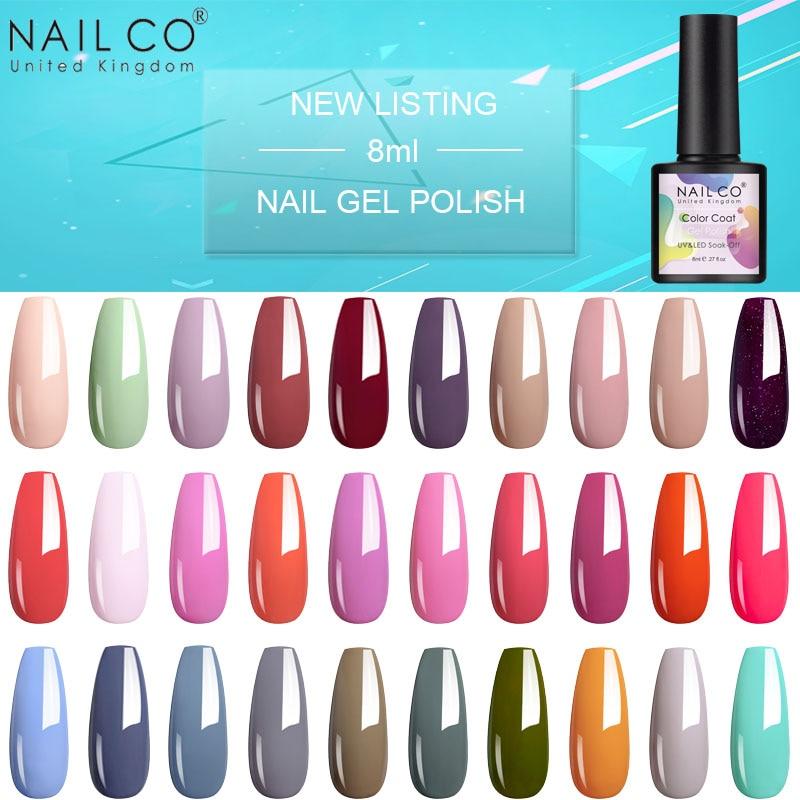 Nailco New Listing 8ml Uv Hybrid Art Nail Gel Polish Semi Permanent Soak Off Gel Varnishes For Nail Art Design And Decoration Nail Gel Aliexpress
