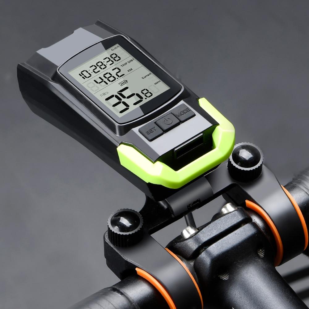 4 Mode USB Bike Light Lamp Bicycle Computer 3 Mode Horn Flashlight Cycle Bike Speedometer Led Front Lights Cycling Headlight
