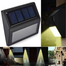 Home Garden 6 LED Solar Power Light Optically controlled Sensor Wall Light Garden Step Stair Deck Lights Balcony Fence Lamp