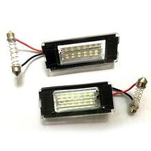 2 шт. для Mini R56 R57 R58 R59 Clubman Cooper Works Convertible Roadster светодиодный светильник для номерного знака автомобиля