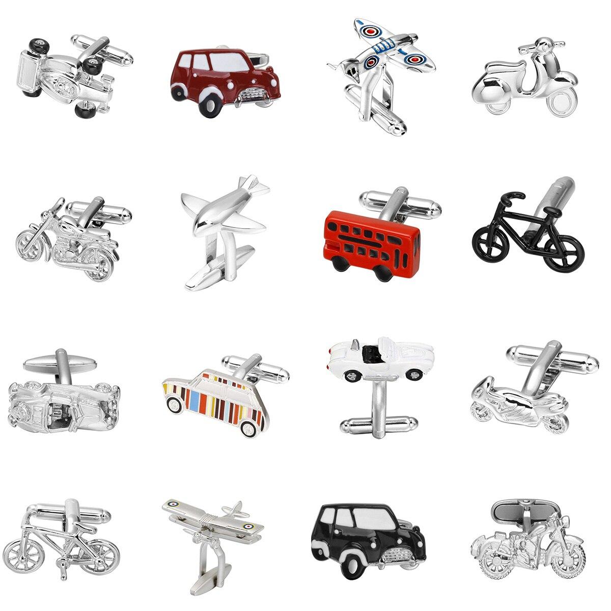 Latón de calidad Material de alta calidad coche/Moto/avión/barco/bicicleta de los hombres de la moda camisas gemelos