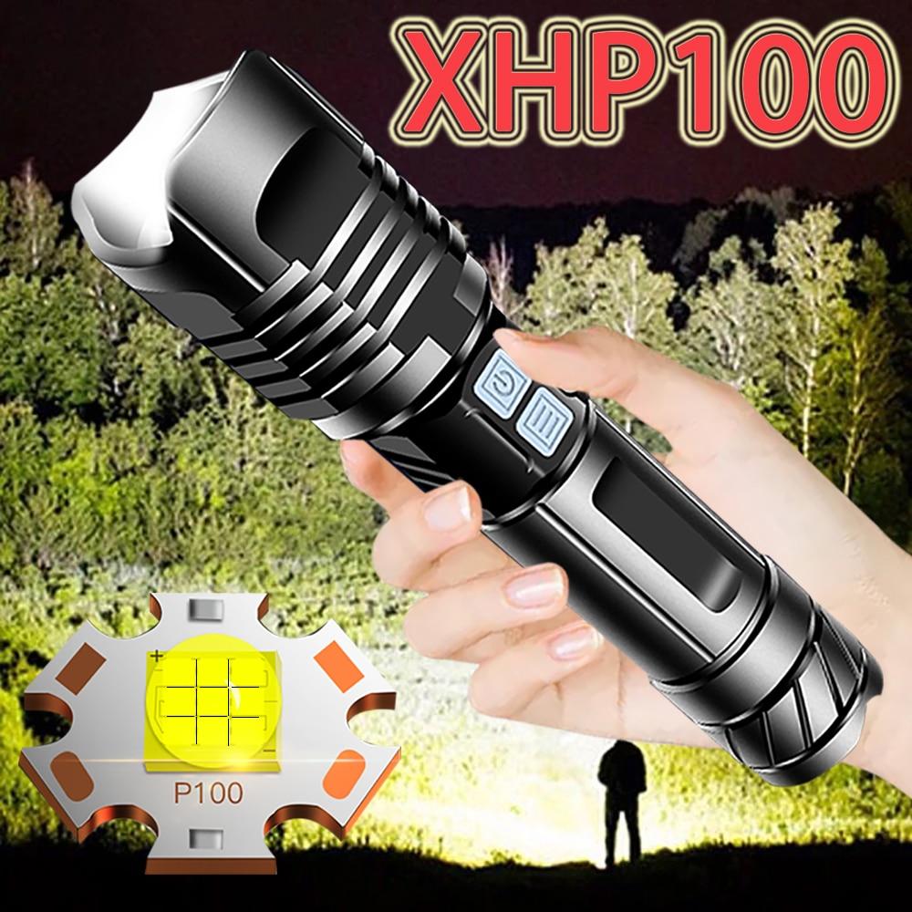 700000lm Super XHP100 XHP90 Mais Poderosa Lanterna LED USB Recarregável LEVOU Tocha Lanterna Tática XHP50 Mão Lâmpada 18650 Luz do Flash
