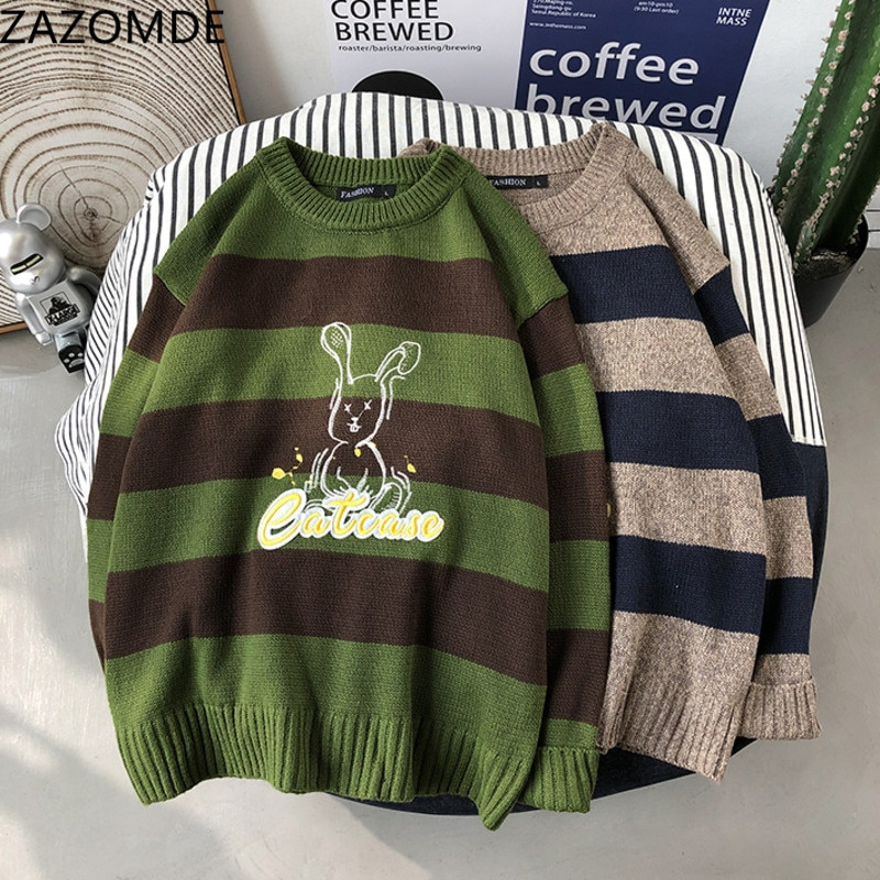 ZAZOMDE Winter 2020 Men Sweater Casual Soft Wearing Knitted Clothing Long Sleeve Fashion New O Neck man Comfortable Sweater