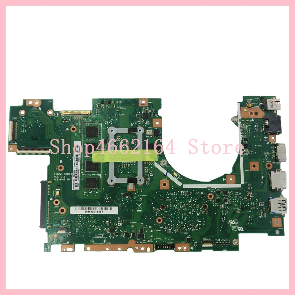 X402CA X502CA Motherboard For ASUS X402CA X502CA Mainboard With 1007 Processor HM76/SLJ8E 4G RAM REV 2.1 Motherboard 100%Test OK