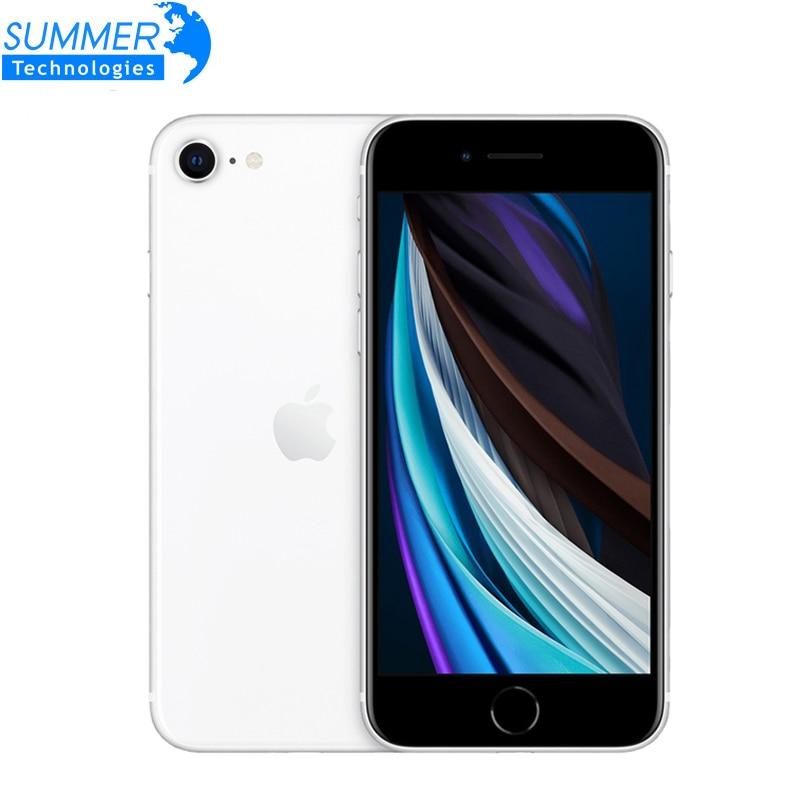 Перейти на Алиэкспресс и купить Оригинальный Apple iPhone SE 2020 GSM разблокированный 4,7 дюймA13 3G RAM 64 Гб ROM 12.0MP две sim-карты Touch ID шестиядерный IP67 смартфоны