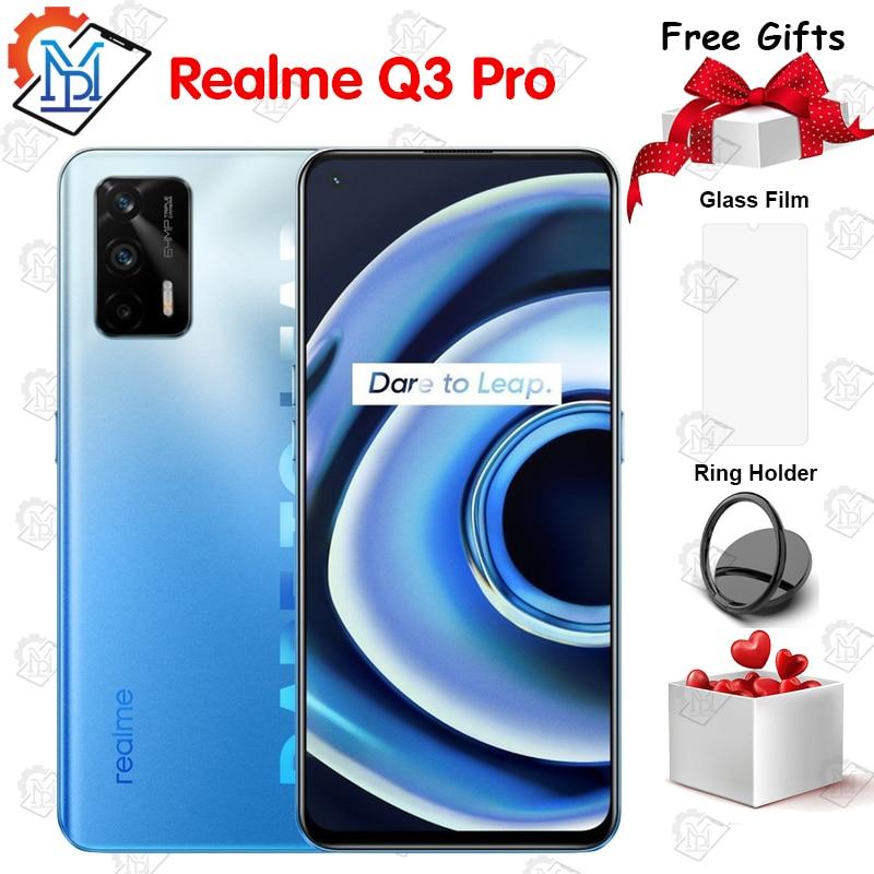 Перейти на Алиэкспресс и купить Оригинальный Realme Q3 Pro 5G мобильный телефон 6,43 дюймAMOLED 120 Гц 6 ГБ Оперативная память + 128 ГБ Встроенная память Dimensity 1100 Octa Core 30 Вт, быстрая зарядка, сма...