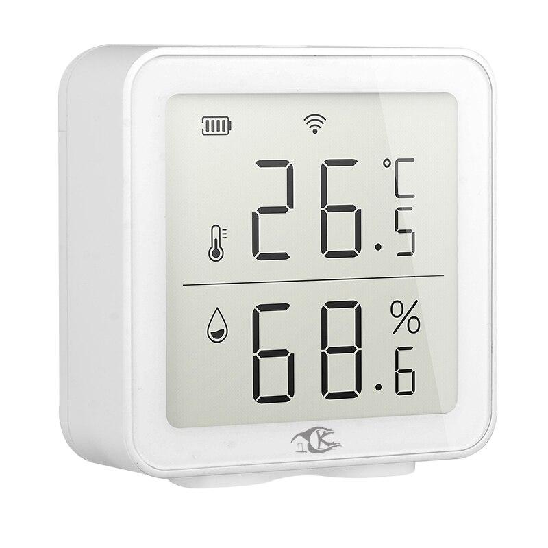 Tuya المنزل الذكي واي فاي درجة الحرارة والرطوبة للكشف عن درجة الحرارة والرطوبة اللاسلكية الاستشعار ذكي الربط