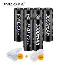 PALO 2 ~ 8Pcs 1.2V AA 3000mah Batteria Ricaricabile NiMH AA 1.2V Ni-Mh 2A Pre- carica Bateria Ricaricabile Batterie per la macchina fotografica giocattolo