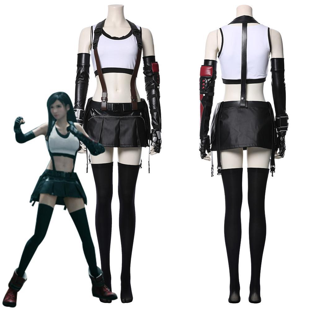 Final Fantasy VII Remake Tifa Lockhart Cosplay disfraz adulto mujeres chicas Halloween carnaval disfraces