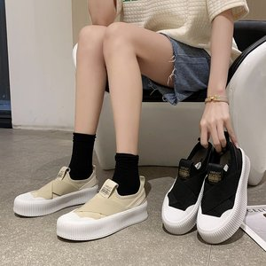 Spring New Women Casual Shoes Fashion Comfortable Canvas Shoes Small White Shoes Flat Bottom Women Fisherman Shoes Sneakers