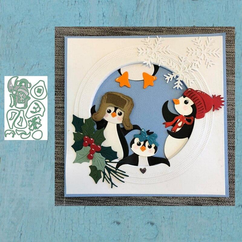 LLove CCraft troqueles de corte de Metal Plantilla de corte pingüino álbum de recortes molde artesanal para corte de papel plantillas para perforar con cuchillas troqueles