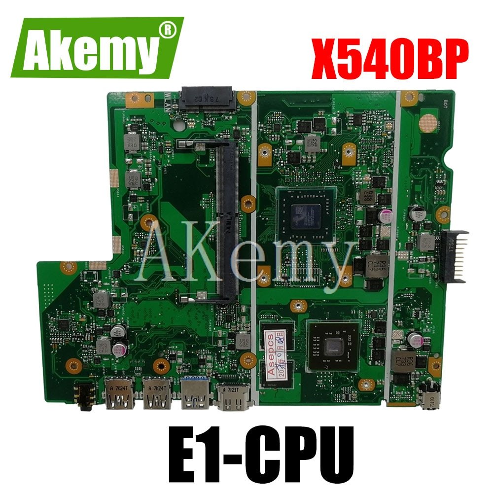 Akemy ل Asus X540BP X540B Laotop اللوحة الرئيسية X540BP اللوحة مع E1/E2-CPU