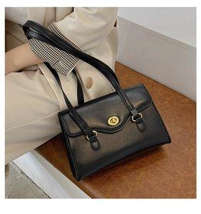 Casual Large Capacity Totes PU Leather Women Handbag Flap Shoulder Crossbody Bag Youth Ladies Simple Versatile Bag