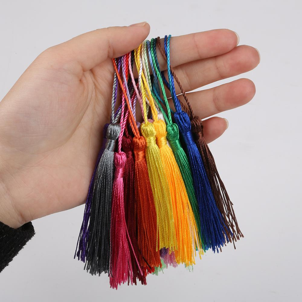 32pcs/Pack Polyester Silk Tassel Fringe 13cm Cotton Tassels Trim For Sewing Curtains Accessories DIY Wedding Decoration