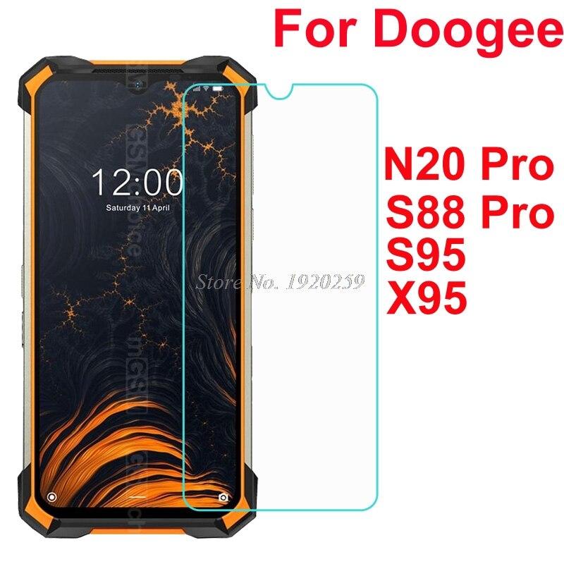 Para doogee n20 s40 s58 s88 s95 x95 plus pro vidro exprosion-prova de vidro temperado capa de tela anti-shatter proteger filme frontal