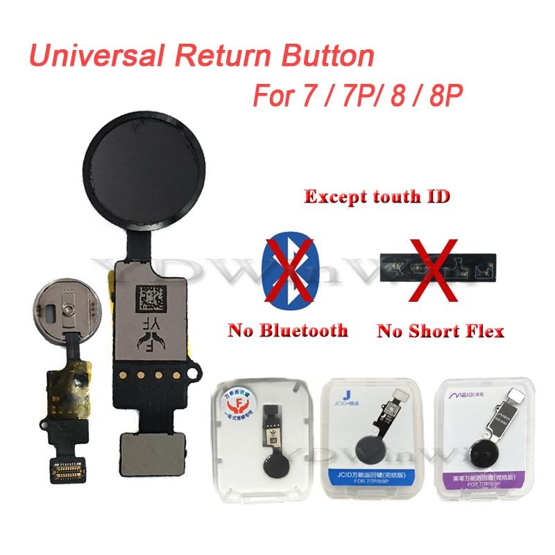 50pcs YF 3rd Gen Universal Botón del hogar Flex Cable para IPhone 7 8 Plus restaurar normal función de retorno No touch ID de reemplazo