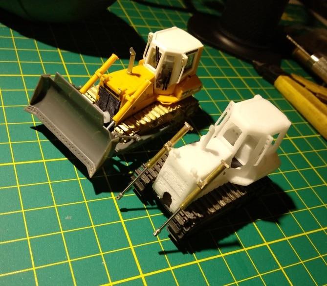 DasMikro Das87 DS87E07 HO Scale 1/87 734 Bulldozer DIY Kit With Two Motors
