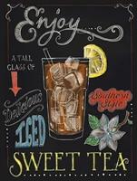 Panneau en etain rustique nostalgique  impression murale en metal pour profiter du the glace  pour la maison  Bar  cuisine  salon de the  cafe
