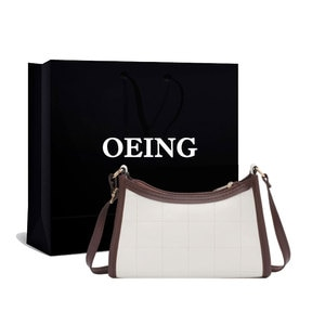 Plaid Stitching Baguette Bag Women Female Luxury Designer Handbags Leather Shoppers Crossbody Shoulder Bags Ladies Purses 2021