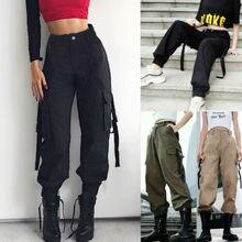 Pantalon Cargo extensible pour femmes, à la mode, pantalon Long, poche, sport, jogging, bas