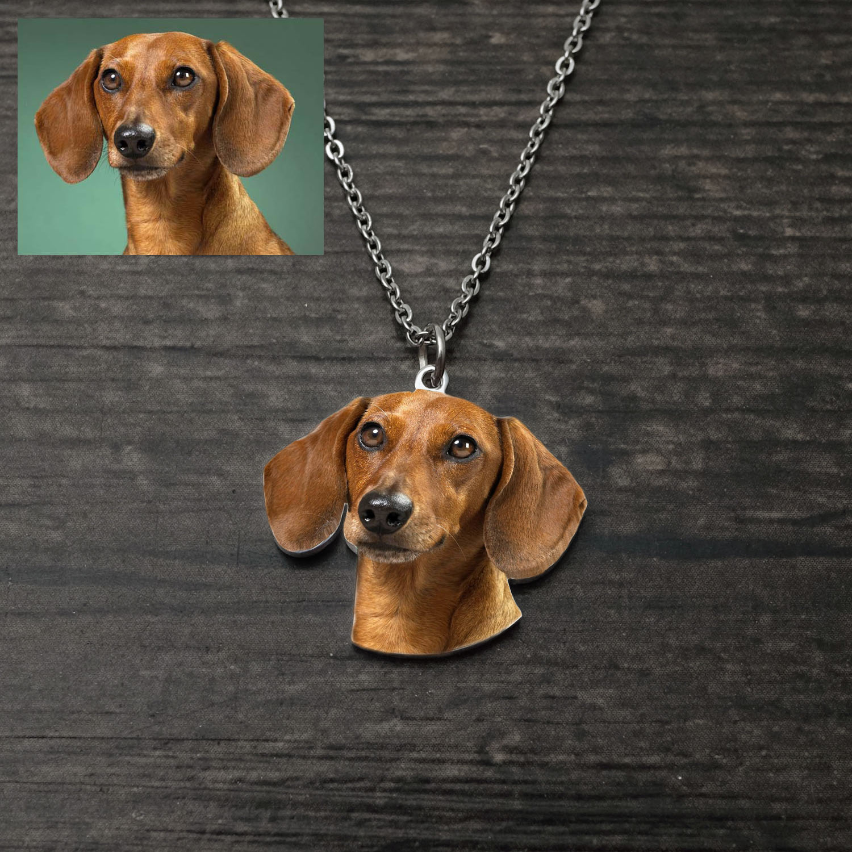 Индивидуальное ожерелье с фото, фото сердца, подарок для влюбленных, фото, ожерелье с памятью животного