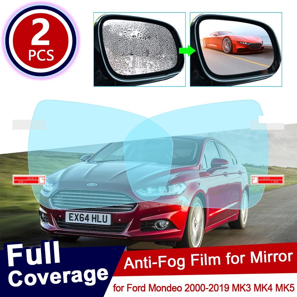 for Ford Mondeo 2000~2019 MK3 MK4 MK5 Full Cover Anti Fog Film Rearview Mirror Rainproof Clear Anti-fog Films Car Accessories
