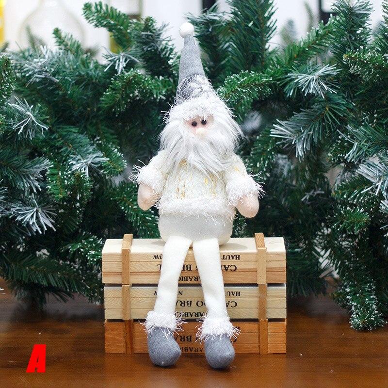 Christmas Decorations Sitting Christmas Santa Claus Snowman Figure Plush Toy Doll Christmas Party Tree Hanging Decor NSV