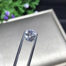 1pcs 5 milímetros GH cor Solto Moissanite 0.5ct Rodada Brilliant Cut Test Lab Positiva Grown Moissanite Diamante Solto Gemas pedras