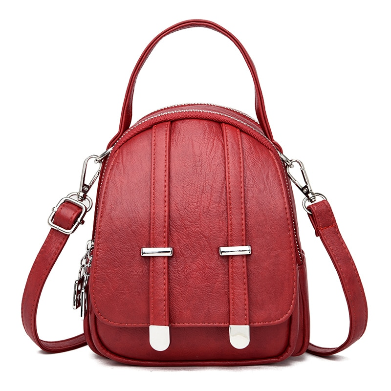 2020 Small Leather Backpacks For Girls Mochila Feminina Women Backpacks High Qaulity Rucksacks For Girls Vintage Bagpack Female