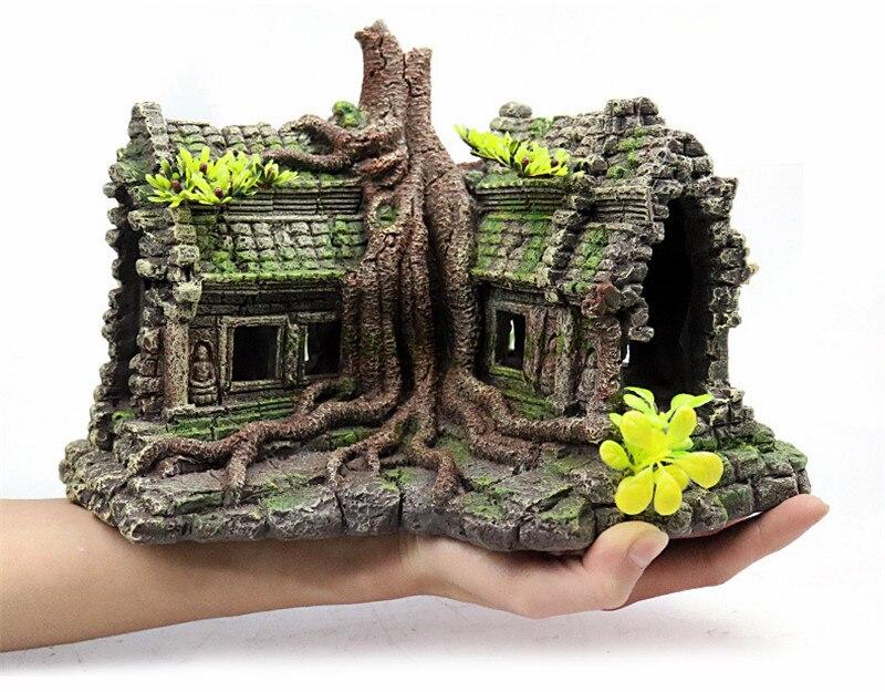 Fish tank landscaping simulation Castle house tree house Chalet Resin craft decoration Creative goods Aquarium supplies