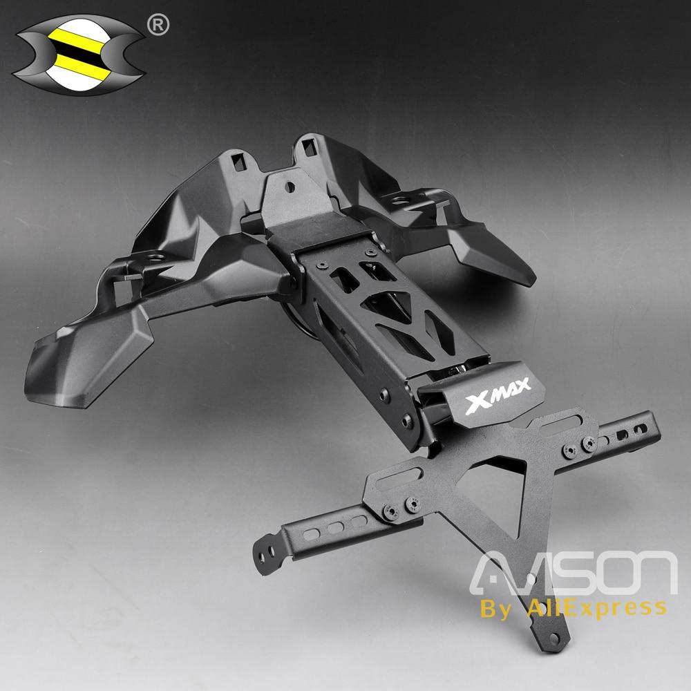 لوحة ترخيص حامل ل XMAX X MAX X-MAX 300 250 2016 2017 2018 دراجة نارية الذيل مرتب الحاجز مزيل LED تسجيل