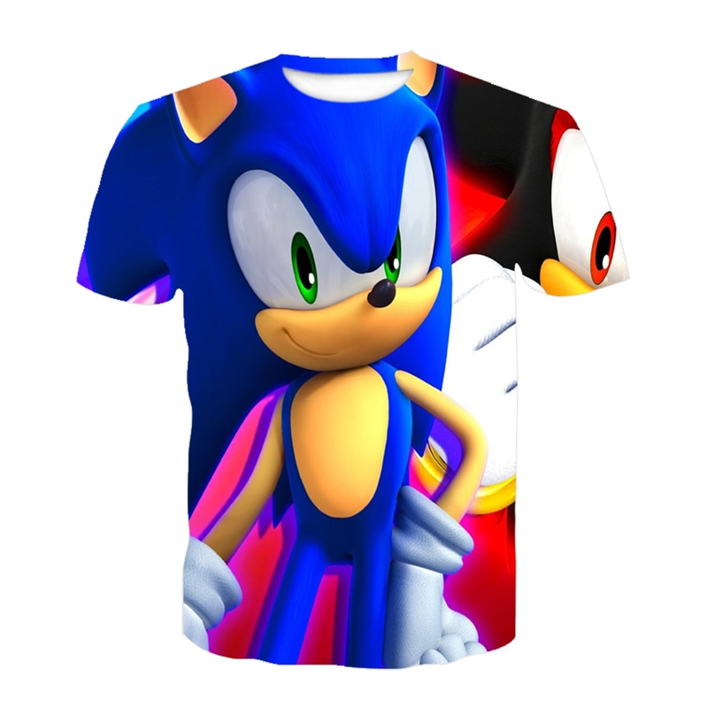 Boys Super Zings Sonic Print Clothes Baby 3D Funny T-Shirts Kids Superzings Clothing Boys Graphic T Shirts Anime Among Eboy