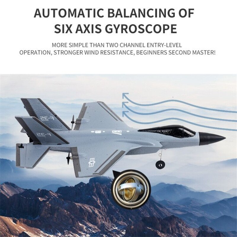 F35 F22 J-20 Fighter 2.4G 4CH EPP RC Airplane 315mm Wingspan Remote Control Plane Warbird RTF Flight Toys For Boys Kids enlarge