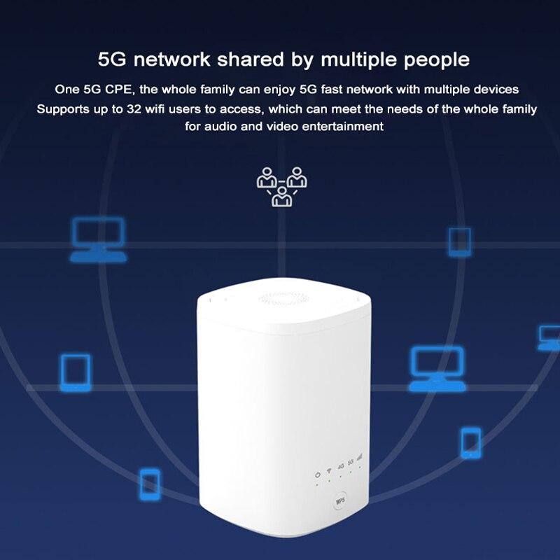 Unlock ZLT X21 CPE 5G Indoor CPE Sub 6GHz NSA+SA modem 5g wifi sim card Gigabit router Mobile wifi hotspot wireless amplifier enlarge