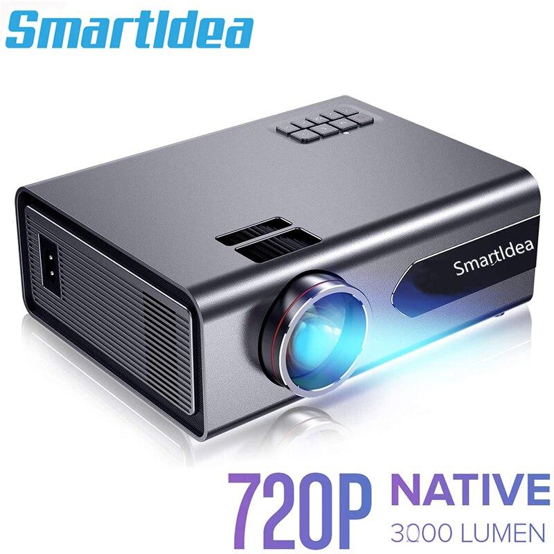 Smartldea nativo 1280*720 led Proyector de cine Cine video Proyector soporte Full...