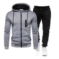 brand mens sweatshirt zipper men jackets casual hooded set mens street hoodie harajuku street fashion sweater suit m 3xl